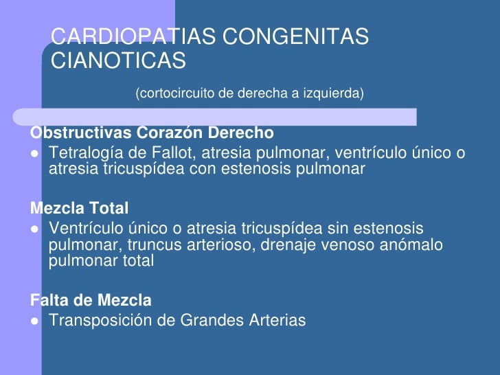 Cardiopatias Congenitas Cianoticas En Pediatria Pdf