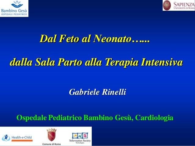 Dal Feto al Neonato…... dalla Sala Parto alla Terapia Intensiva Ospedale Pediatrico Bambino Gesù, Cardiologia Gabriele Rin...