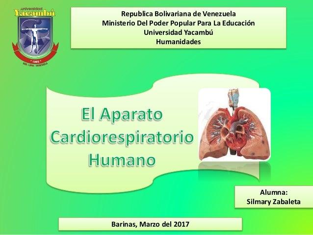 Republica Bolivariana de Venezuela Ministerio Del Poder Popular Para La Educación Universidad Yacambú Humanidades Barinas,...