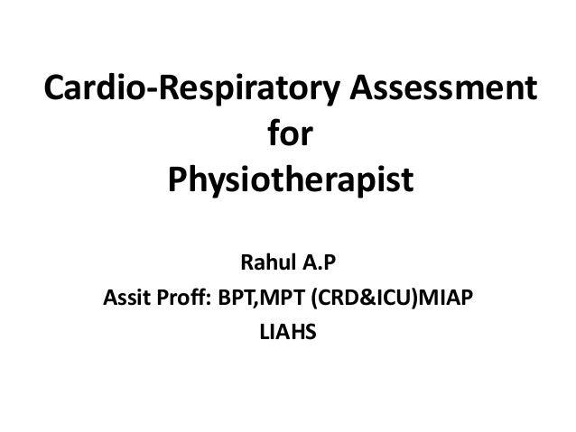Cardio Respiratory Assesment