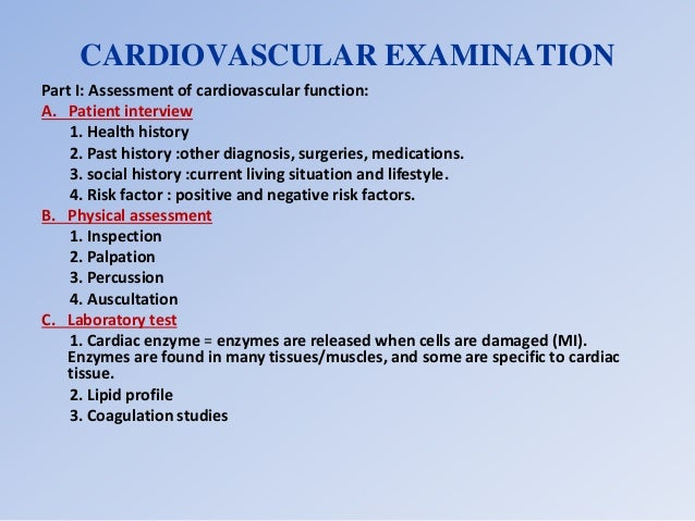Cardiovascular assessment aser