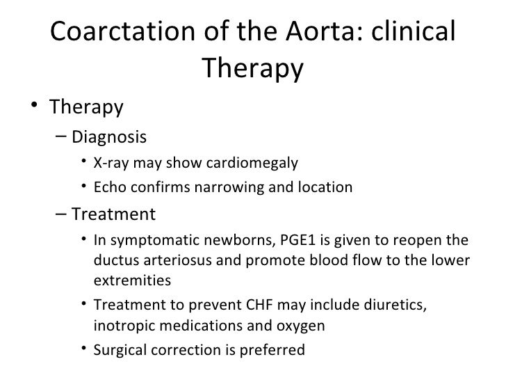 Image result for treatment of aortic coarctation