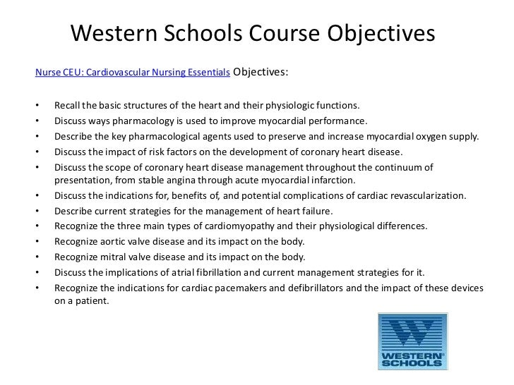 Western Schools follows stringent standards for curriculum planning, development & presentation. Courses are scientific, evidence-based, and written and peer-reviewed by .