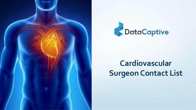 Cardiovascular Surgeon Contact List