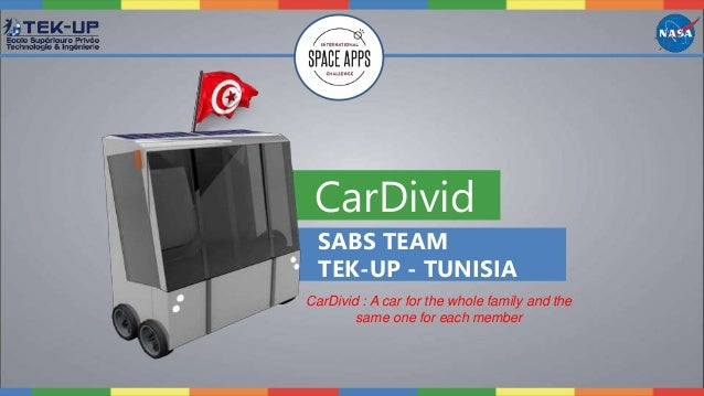 CarDivid SABS TEAM TEK-UP - TUNISIA CarDivid : A car for the whole family and the same one for each member