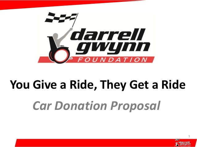 You Give a Ride, They Get a Ride Car Donation Proposal 1