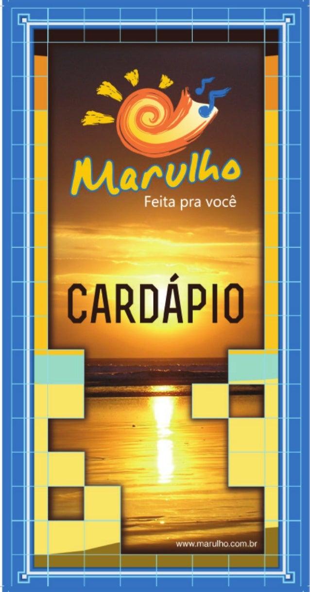 Cardápio Marulho