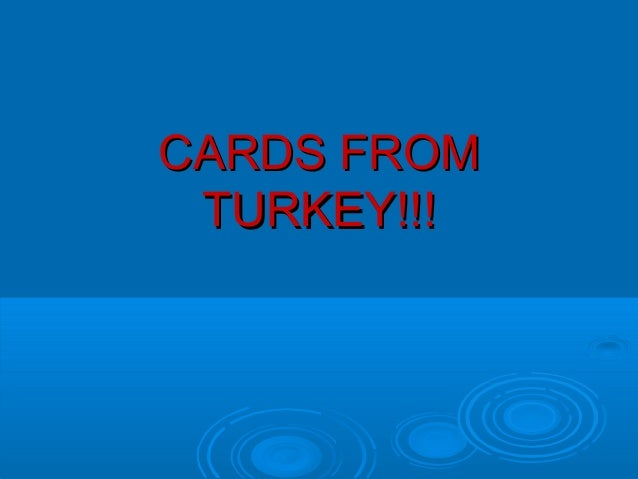 CARDS FROM TURKEY!!!