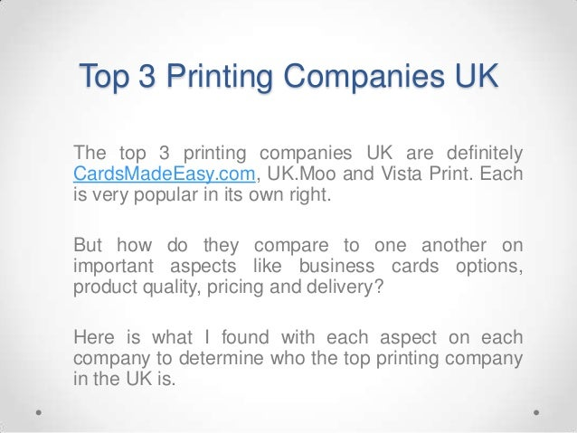 Top 3 Printing Companies UK - Complete Review! Slide 2