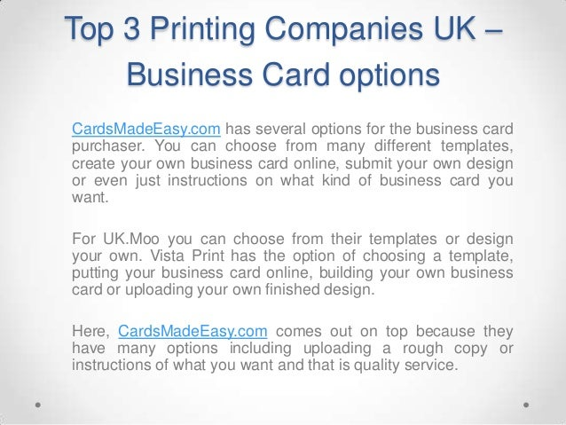 Top 3 Printing Companies UK - Complete Review! Slide 3