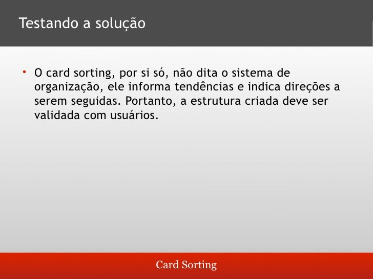 Guia para Cardsorting