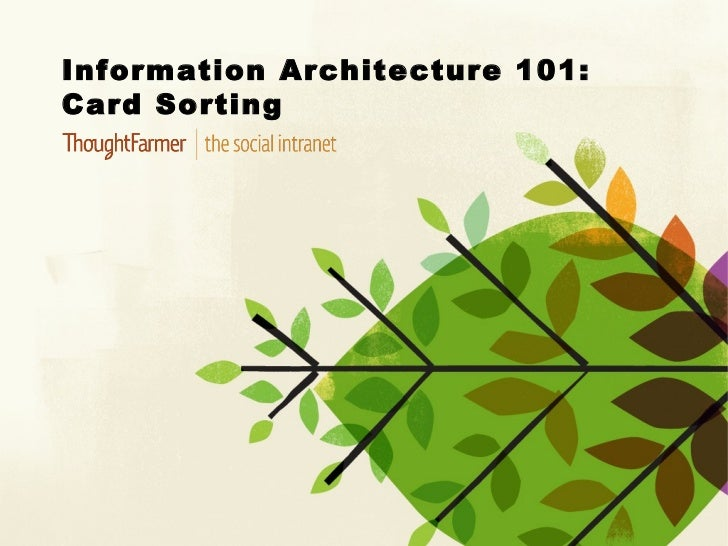 Information Architecture 101:Card Sorting