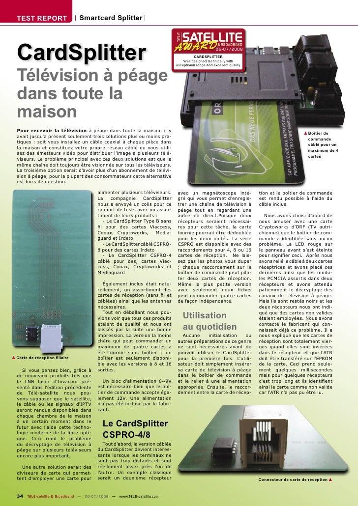 TEST REPORT                  Smartcard Splitter       CardSplitter                                                        ...