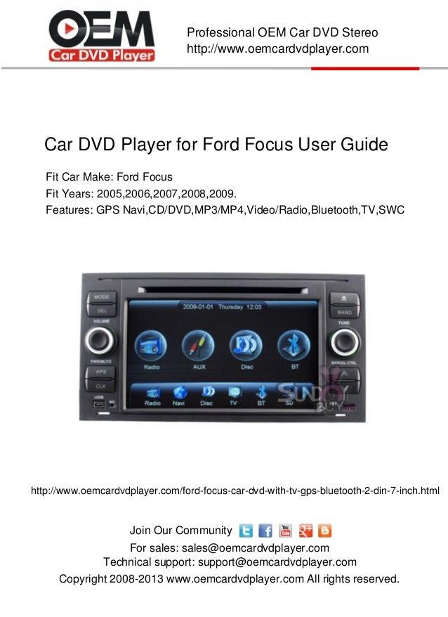 car gps dvd player for ford focus user guide rh slideshare net ford focus 2007 owners manual uk ford focus 2007 owners manual pdf