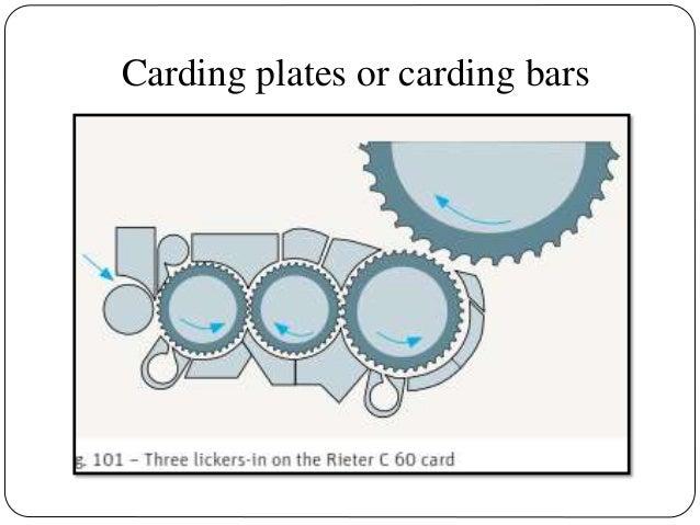 Carding plates or carding bars