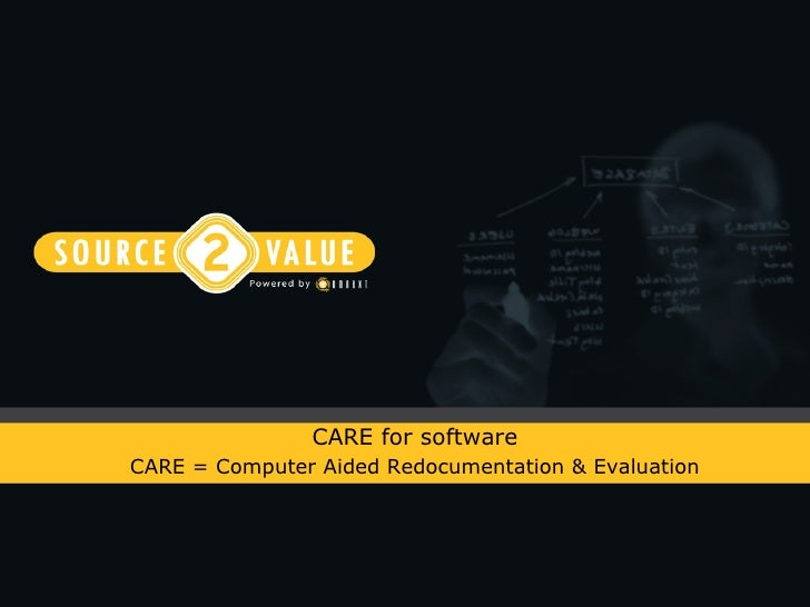 CARE for software CARE = Computer Aided Redocumentation & Evaluation
