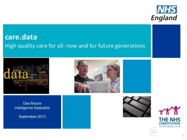 Building choice of high quality support for commissioners care.data High quality care for all: now and for future generati...