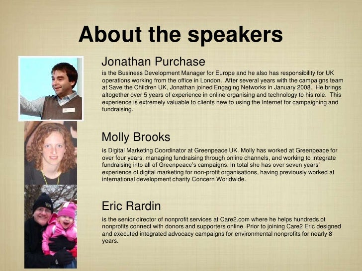 About the speakers  Jonathan Purchase  is the Business Development Manager for Europe and he also has responsibility for U...