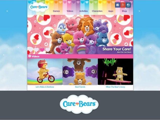 Website Development & Social Media for the famous international brand Care Bears Slide 2