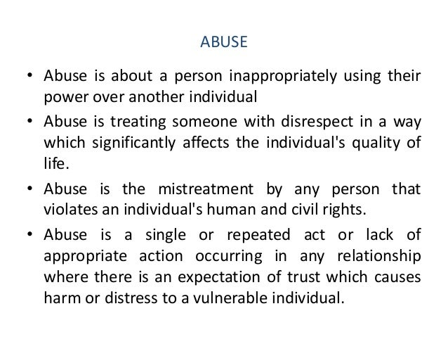 Describe factors that may contribute to an individual being vulnerable to abuse