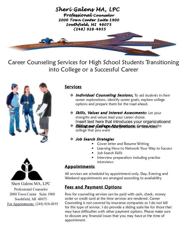 Career Counseling Office Flyer For Students