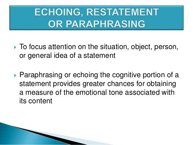  steering techniques used to encourage clients to go on with topic  Use nonverbal gestures such ◦ eye contact ◦ nodding ...