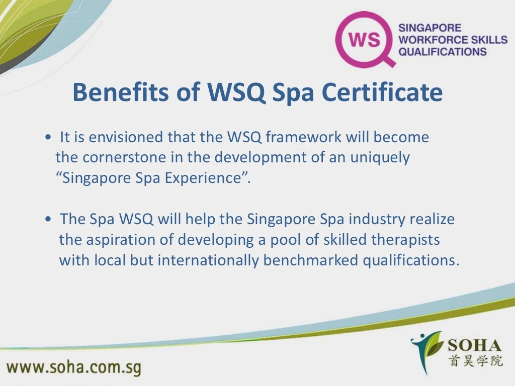 Benefits of wsq spa certificate xflitez Images