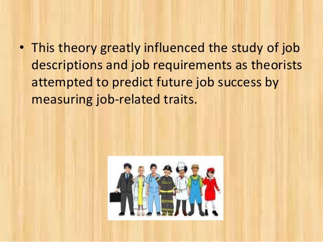 an analysis of the theory of career development Vocational development emerged in the middle of the 20th century to address the question of how to advance a career in one organization or profession career construction theory is career adaptability life themes guide the expression of personality.