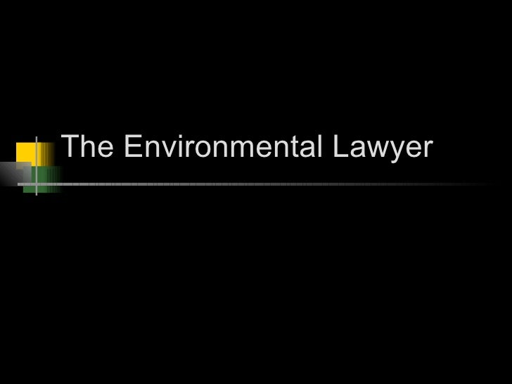 The Environmental Lawyer