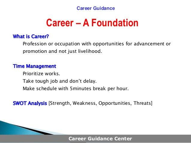 Career guidance Slide 2