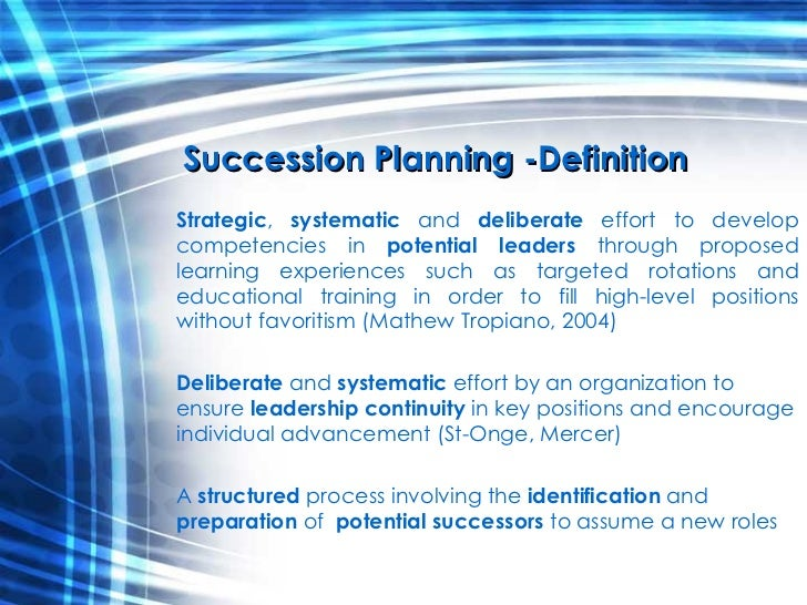 Career Development & Succession Planning