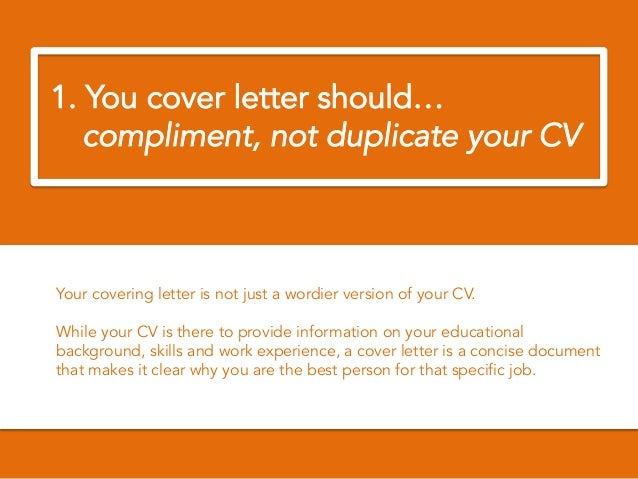 2 2 you cover letter - How To Write The Perfect Cover Letter For A Job