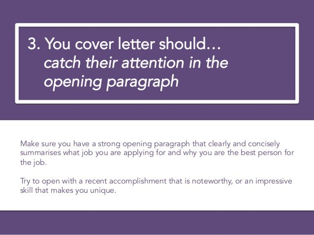 4 4 you cover letter - How To Write The Perfect Cover Letter For A Job