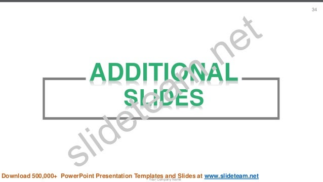 ADDITIONAL SLIDES Your Company Name 34 Download 500,000+ PowerPoint Presentation Templates and Slides at www.slideteam.net
