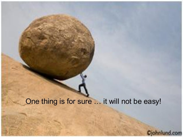 One thing is for sure … it will not be easy! Talent and Career Building Mohammad Tawfik  #WikiCourses http://WikiCourses.W...
