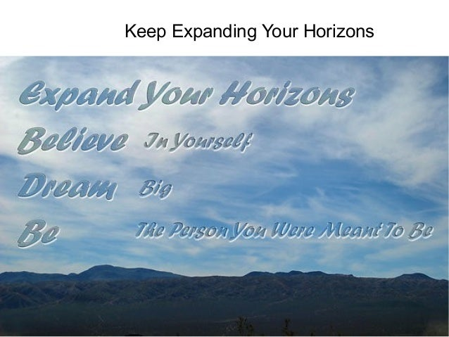 Keep Expanding Your Horizons  Talent and Career Building Mohammad Tawfik  #WikiCourses http://WikiCourses.WikiSpaces.com