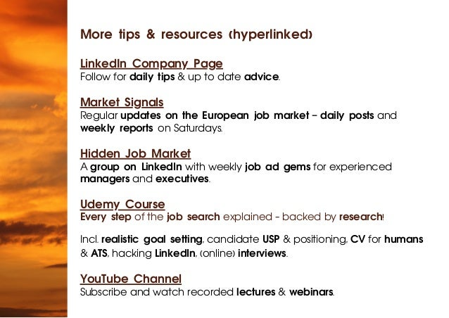 More tips & resources (hyperlinked) LinkedIn Company Page Follow for daily tips & up to date advice. Market Signals Regula...