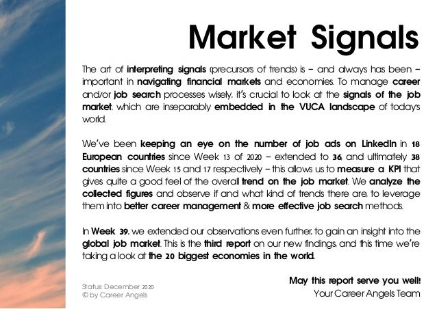Market Signals The art of interpreting signals (precursors of trends) is – and always has been – important in navigating f...