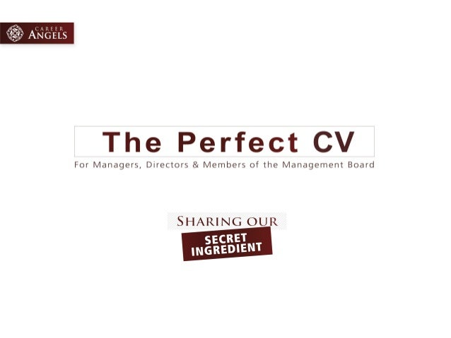 The Perfect CV - Sharing our secret