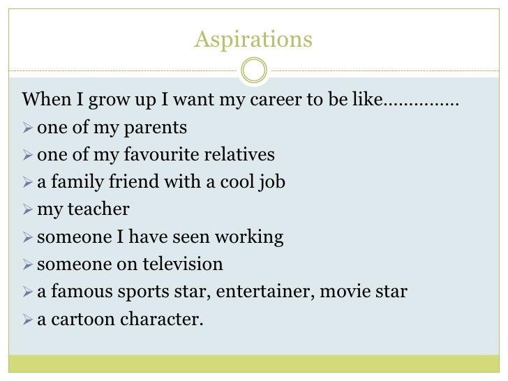 Career Aspirations