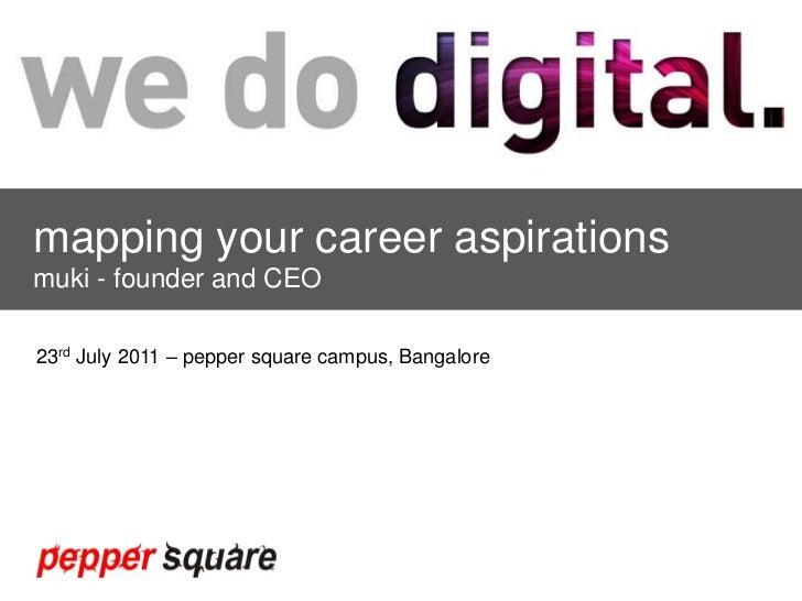 your career aspirations