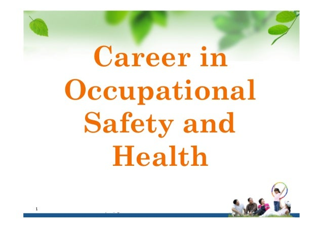 Career in Occupational Safety and Health 17 March 2014razman.pe@gmail.com1