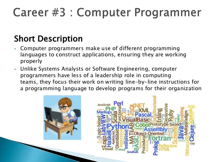 Education required to be a computer programmer jgospelus – Computer Programmer Job Descriptions