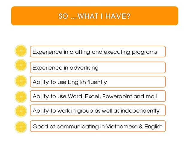 Experience in crafting and executing programsExperience in advertisingAbility to use English fluentlyAbility to use Word, ...