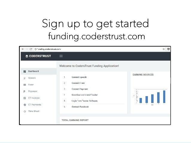 Sign up to get started funding.coderstrust.com