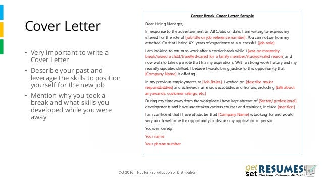 Stay-at-home mom cover letter sample | resumecompanion.