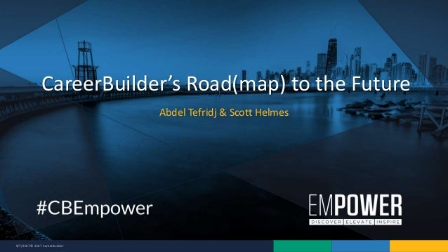 9/7/2017 © 2017 CareerBuilder Abdel Tefridj & Scott Helmes CareerBuilder's Road(map) to the Future