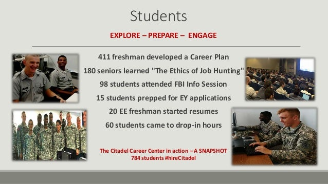 Citadel Career Center - Leading the way