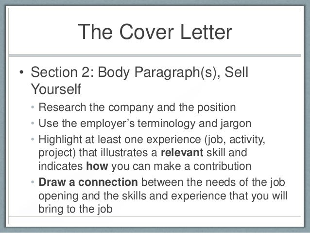 education 10 the cover letter
