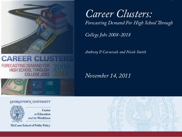 Career Clusters Forecasting Demand For High School Through College J